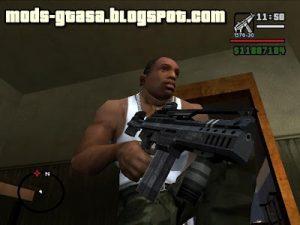 Pack de Armas do Battlefield 2142 GTA San Andreas Mods