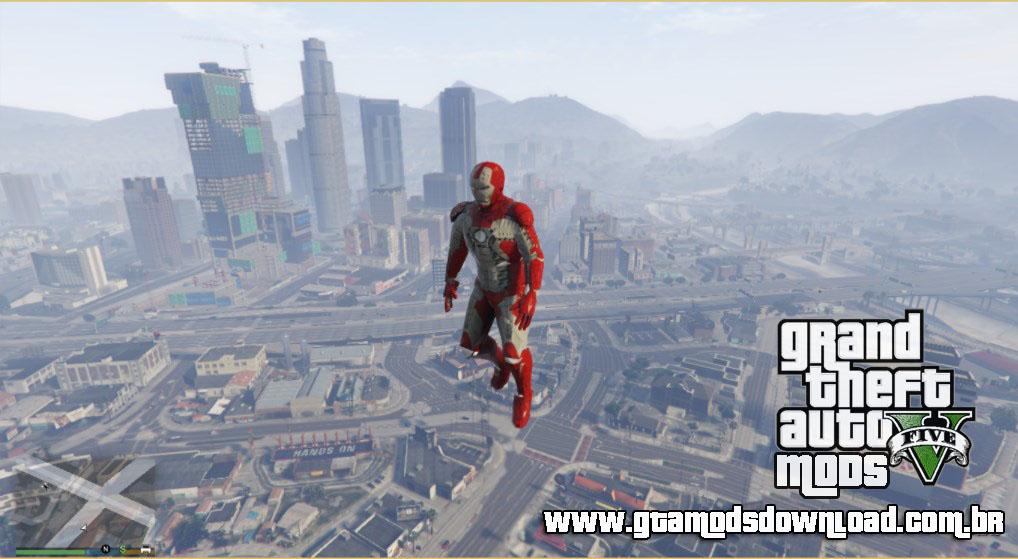 Skin Iron Man Mark V GTA V